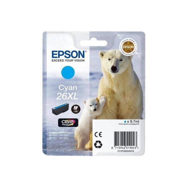 Картридж EPSON T26324010 XL синий увеличенный для XP-600/700/800