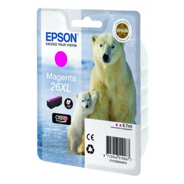 Картридж EPSON T26334010 XL малиновый увеличенный для XP-600/700/800
