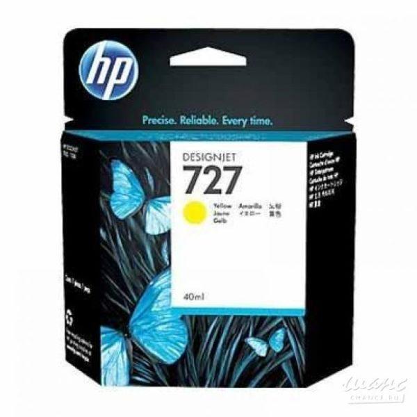 Картридж HP B3P15A №727 с желтыми чернилами для принтеров Designjet, 40 мл