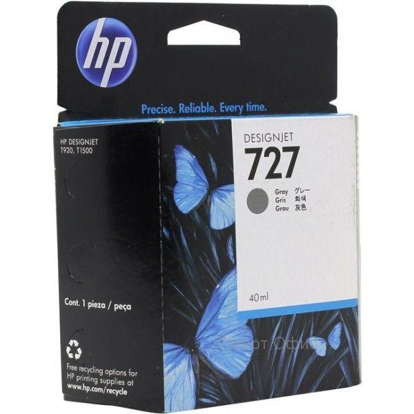 Картридж HP B3P18A №727 с серыми чернилами для принтеров Designjet, 40 мл