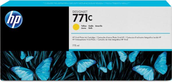 Картридж HP B6Y10A №771C желтый для Designjet Z6200 Printer series, 775мл