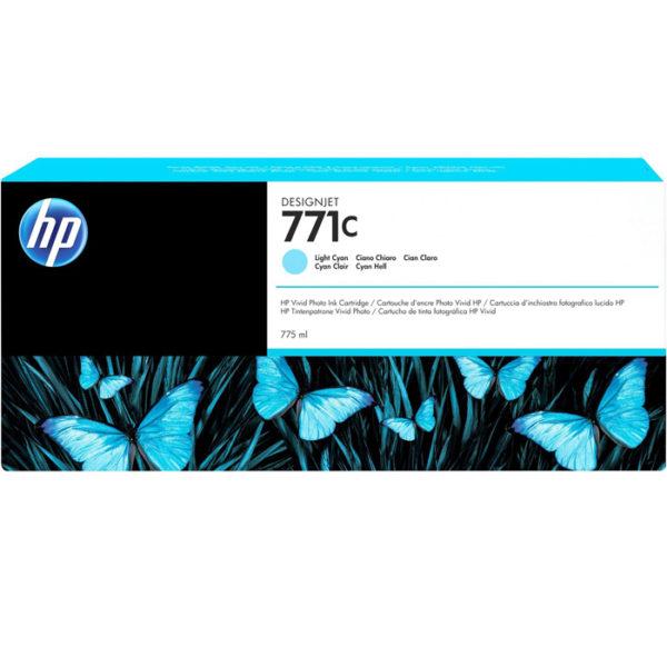 Картридж HP B6Y12A №771C светло-синий для Designjet Z6200 Printer series, 775мл
