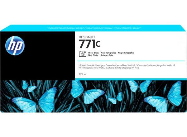 Картридж HP B6Y13A №771C фото-черный для Designjet Z6200 Printer series, 775мл