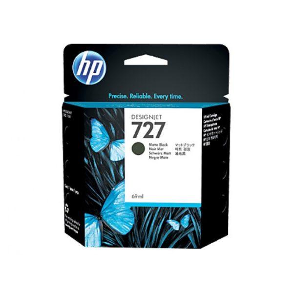 Картридж HP C1Q11A №727 с матово-черными чернилами для принтеров Designjet, 69 мл