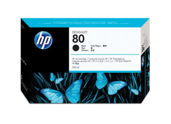 Картридж HP C4871A №80 черный для 1050С/1055CМ (350 мл)