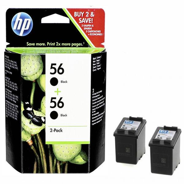 Картридж HP C9502AE №56 C6656AE 2шт.упак. черный для 5550/7150/7350
