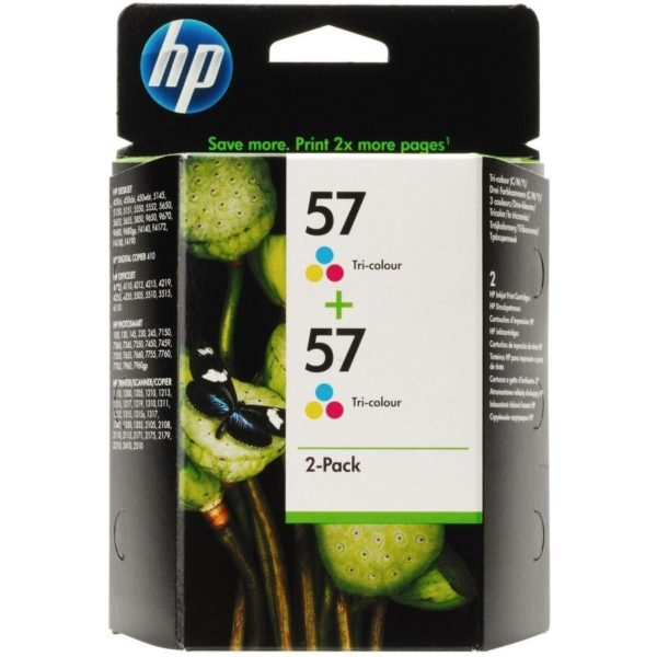 Картридж HP C6657AЕ №57 C6657AЕ 2шт.упак. черный для Photosmart 5550/7150/7350