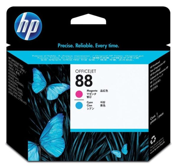 Печатающая головка HP C9382A №88 малиновая+голубая для Officejet Pro K550/K5400