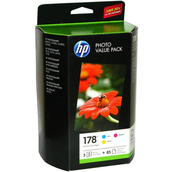 Картридж HP CB318/319/320HE набор 3 цветных картриджа + бумага