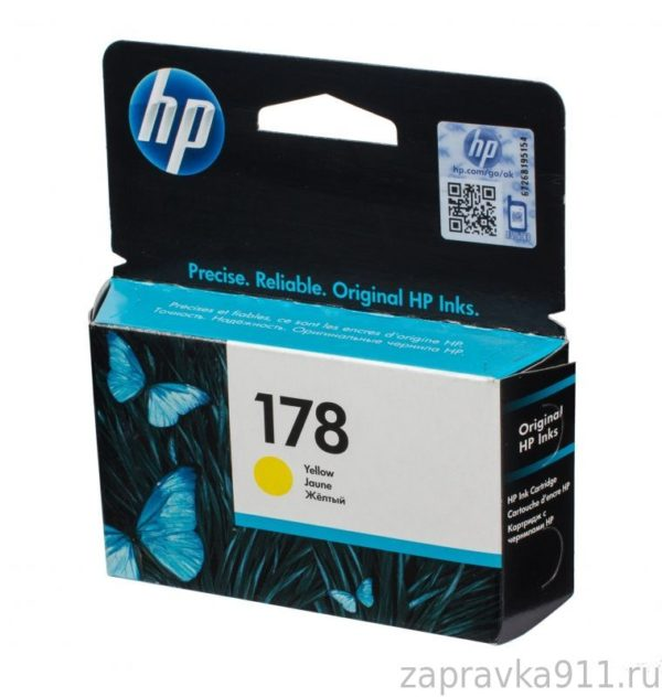 Картридж HP CB320HE №178 желтый стандартный для Photosmart C5383/C6383