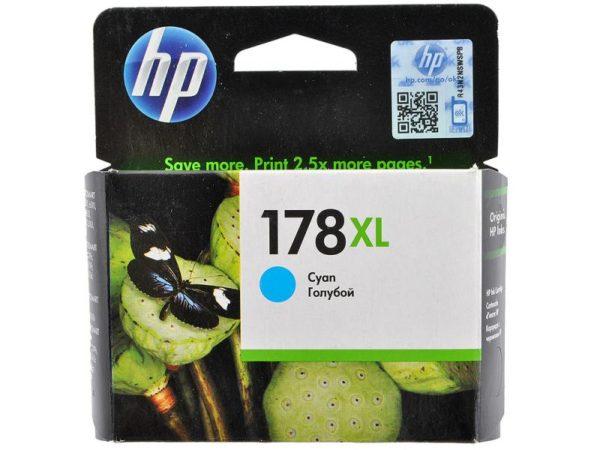 Картридж HP CB323HE №178XL голубой увеличенный для Photosmart C5383/C6383