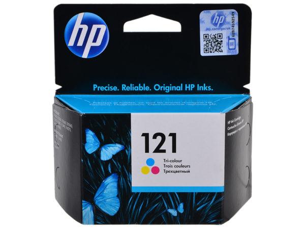 Картридж HP CC643HE №121 цветной стандартный для DJD2563/F4283/D5563/F2423/D1663/F4213/D2663/D2563/F