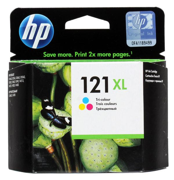 Картридж HP CC644HE №121XL цветной увеличенный для DJD2563/F4283/D5563/F2423/D1663/F4213/D2663/D2563
