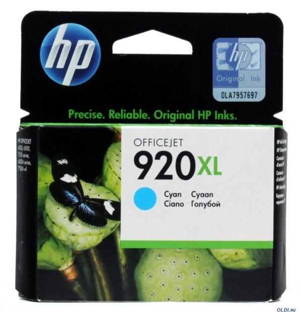 Картридж HP CD972AE №920XL голубой для J4580/4660/4680