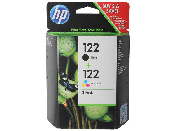 Картридж HP CH561HE + CH562HE №122 черный+цветной для Deskjet 2050