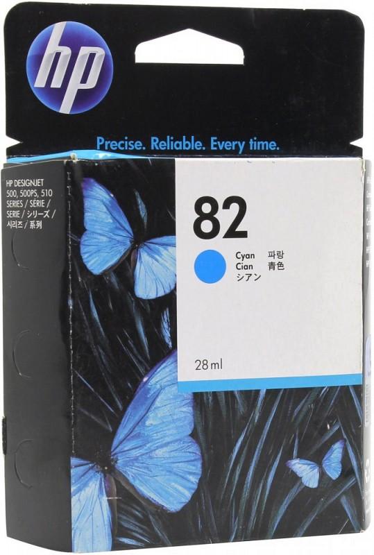 Картридж HP CH566A №82 голубой для Designjet111/510 28 мл