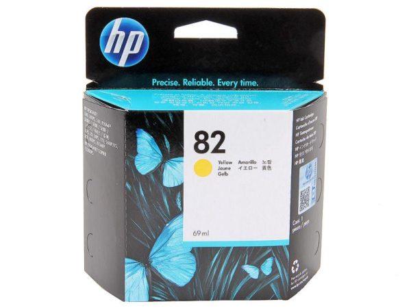 Картридж HP CH568A №82 желтый для Designjet111/510 28 мл