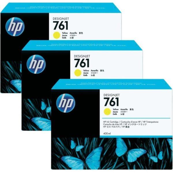 Набор картриджей HP CR270A №761 желтый*3шт. для Designjet T7100/T7200