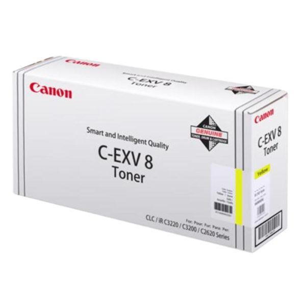 Тонер CANON C-EXV8Y желтый для CLC2620/3200/3220/IR C2620/3200/3220