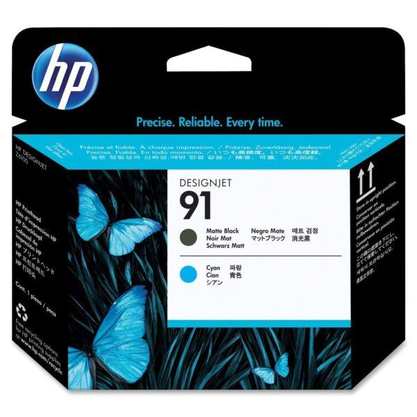 Печатающая головка HP C9460A №91 матово-черная+голубая для Designjet Z6100