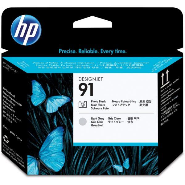 Печатающая головка HP C9463A №91 черная+светло-серая для Designjet Z6100