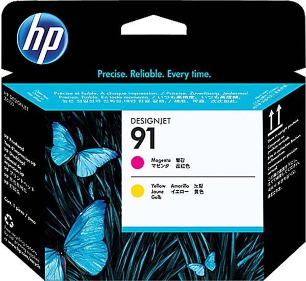 Печатающая головка HP C9461A №91 малиновая+желтая для Designjet Z6100