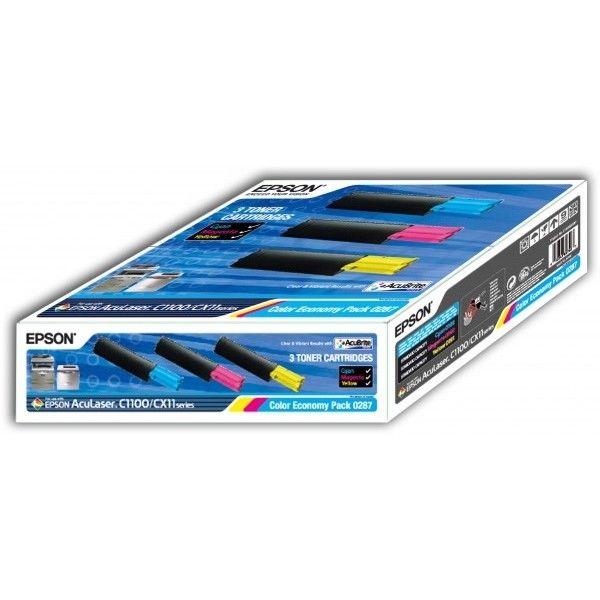 Принт-картридж EPSON S050287 мульти-упаковка для AcuLaser С1100