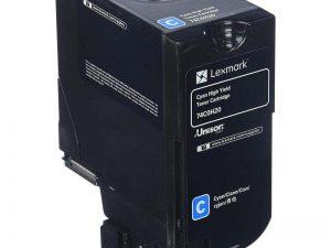 Картридж Lexmark 74C5HCE для CS725de голубой 12000стр