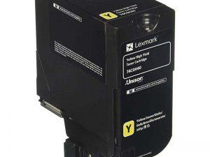 Картридж Lexmark 74C5HYE для CS725de желтый 12000стр