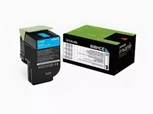 Тонер-картридж Lexmark 80C8HCE 3K Голубой Return Program для CX410/CX510