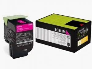 Тонер-картридж Lexmark 80C8HME 3K Малиновый Return Program для CX410/CX510