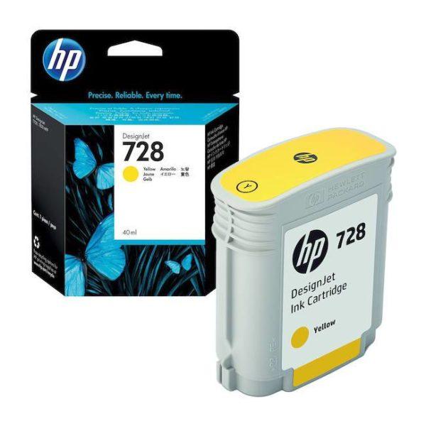 Картридж HP F9J65A №728 желтый для DJ T730/T830