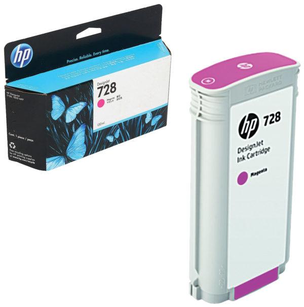 Картридж HP F9J66A №728 малиновый для DJ T730/T830