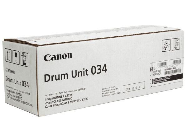 Барабан CANON 034 BK черный для  iR C1225iF, C1225