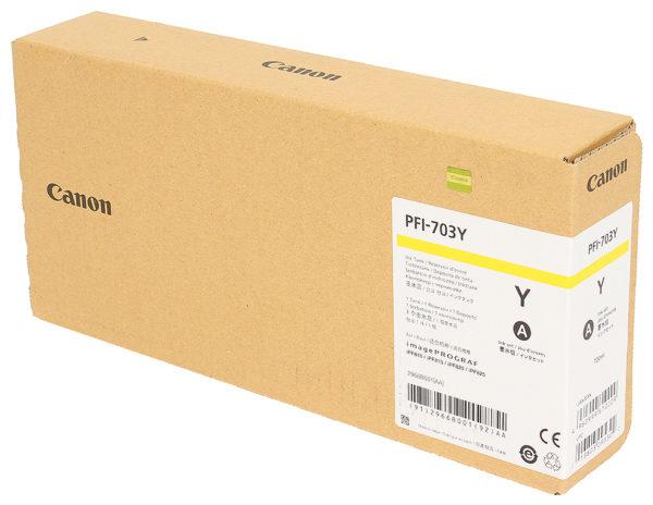 Картридж CANON PFI-703Y жёлтый для IPF810/815/820