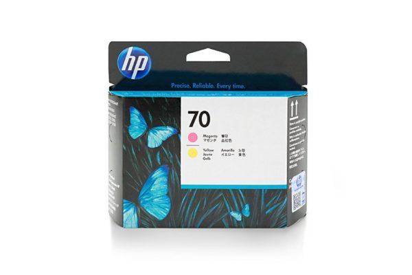 Печатающая головка HP 70 C9406A пурпурная и желтая (16000 стр)