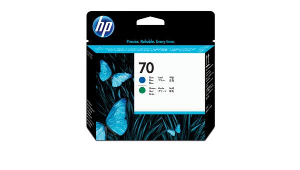 Печатающая головка HP 70 C9408A срок синяя и зеленая (16000 стр)