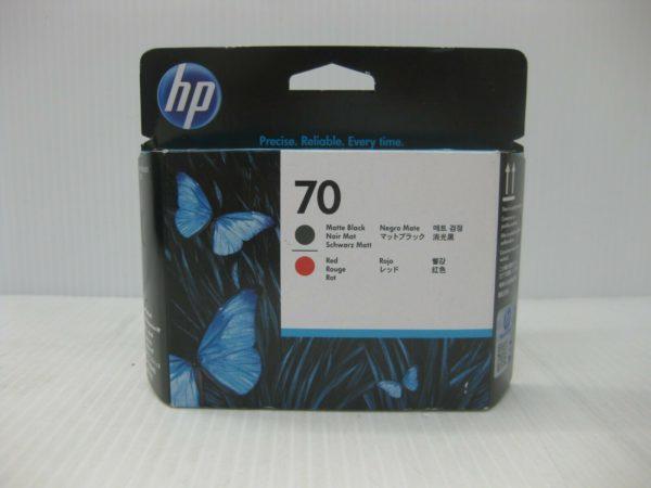 Печатающая головка HP 70 C9409A черная матовая и красная (16000 стр)