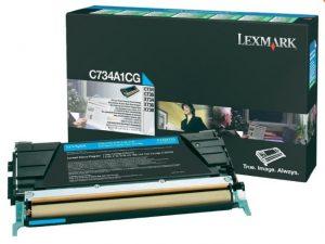 Тонер-картридж LEXMARK C734A1CG синий для c73x/x73x