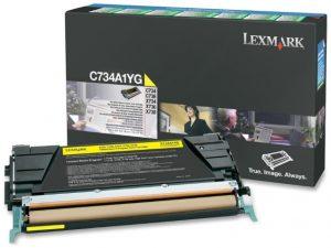 Тонер-картридж LEXMARK C734A1YG желтый для c73x/x73x
