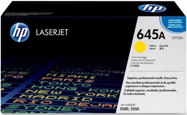 Картридж HP C9732A желтый для LJ 5500/5550