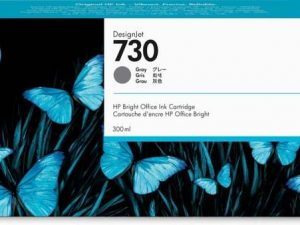 Картридж  HP P2V72A 730 для HP DesignJet T1700, 300 мл,серый