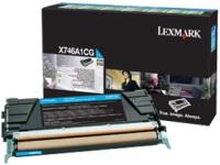 Тонер-картридж Lexmark X746A1CG, голубой