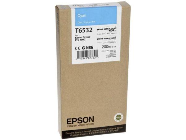 Картридж Epson T6532 синий