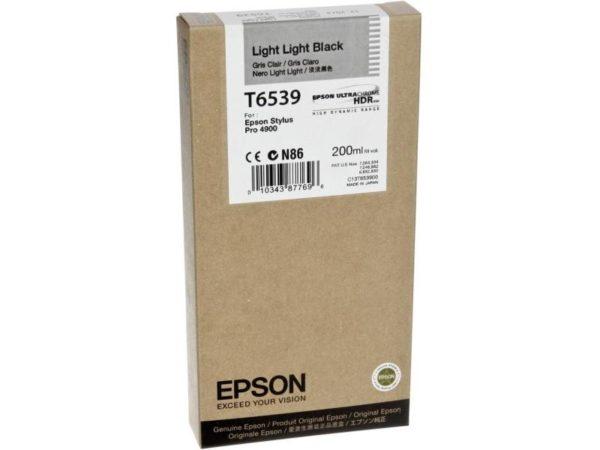 Картридж Epson T6539 светло-черный