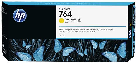 Картридж №764 C1Q15A желтый HP Designjet T3500 (300мл)