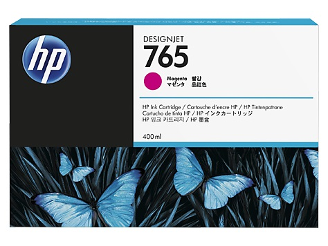 Картридж HP F9J51A №765 малиновый для Designjet T7200, 400мл
