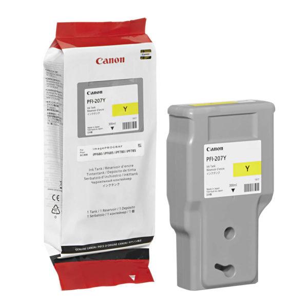 Картридж CANON PFI-207Y желтый для iPF680/685/780/785 300 мл.