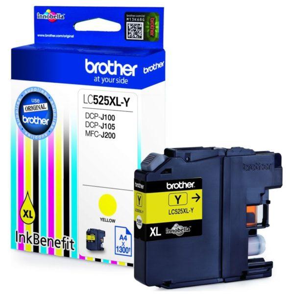 Картридж BROTHER LC525XLY DCP J100/J105/J200 Yellow