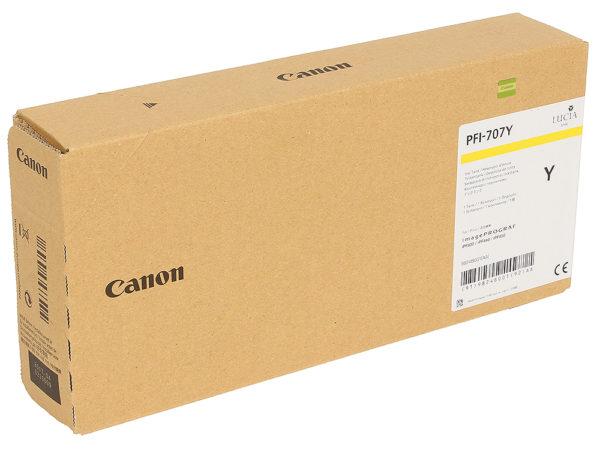 Картридж CANON PFI-707Y желтый для iPF830/840/850